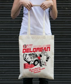 Tote Bag Delorean par Neon Mystic