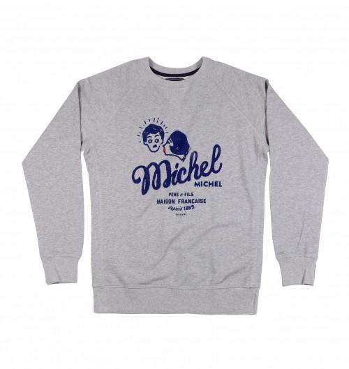 Sweatshirt pour Homme Michel Michel de couleur Gris chiné