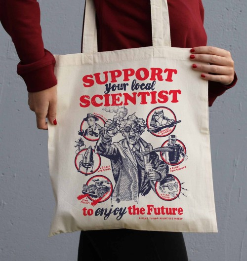 Tote Bag Support Science de couleur Crème
